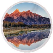 Brilliant Cathedral Round Beach Towel