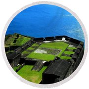 Brimstone Fortress St Kitts Round Beach Towel