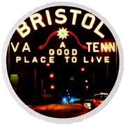 Bristol Round Beach Towel by Karen Wiles