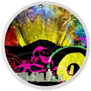 Britain Land Of Custom Myth Legend Round Beach Towel