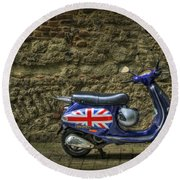 British At Heart Round Beach Towel