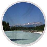 British Columbia Rockies Round Beach Towel