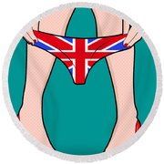 British Girl   Round Beach Towel