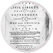 British Pamphlet, 1776 Round Beach Towel
