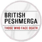 British Peshmerga Round Beach Towel
