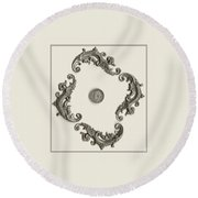 British Shilling Wall Art Round Beach Towel