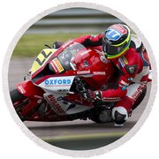 British Superbike Rider Barry Burrell   Round Beach Towel
