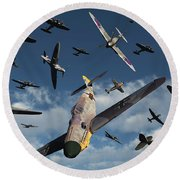 British Supermarine Spitfires Attacking Round Beach Towel