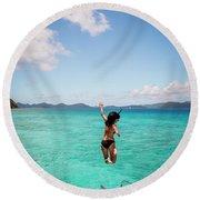 British Virgin Islands, Caribbean Round Beach Towel