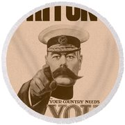 Britons Your Country Needs You  Round Beach Towel