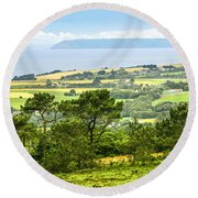 Brittany Landscape With Ocean View Round Beach Towel by Elena Elisseeva