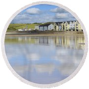 Broad Haven Clouds Round Beach Towel