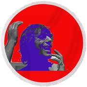 Broadway Joe Namath Telling Football Story C.c. And Co. Set  Tucson Arizona 1970-2012 Round Beach Towel