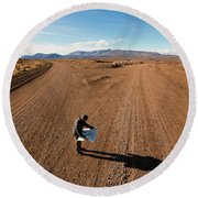 Brody Leven, Patagonia, Chile Round Beach Towel