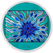 Broken Angel Blooms Round Beach Towel by Barbara St Jean