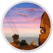 Broken Hill 1 Round Beach Towel