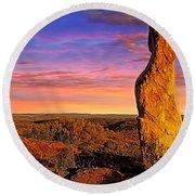 Broken Hill 5 Round Beach Towel