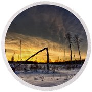 Broken Sustainable Forest Management Round Beach Towel