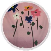Broken Vase Round Beach Towel