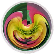 Bromiliad Abstract Round Beach Towel