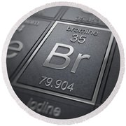 Bromine Chemical Element Round Beach Towel