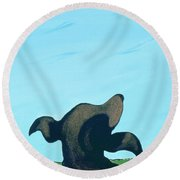 Bronze Profile #2, 1997 Round Beach Towel