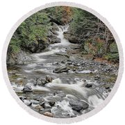 Brook In October Round Beach Towel