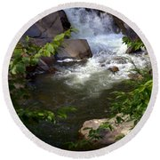 Brook Of Tranquility Round Beach Towel