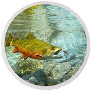 Brook Trout And Silver Doctor Round Beach Towel