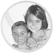 Brooke And Carter Round Beach Towel