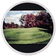 Brookhill Golf Course Round Beach Towel