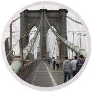 Brooklyn Bridge II Round Beach Towel