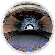 Brooklyn Prospect Park Tunnel Round Beach Towel