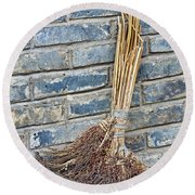 Broom, China Round Beach Towel
