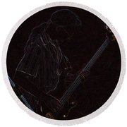 Brother Bassist Round Beach Towel