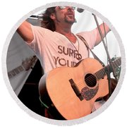 Brother Joscephus And The Love Revival Revolution Orchestra Round Beach Towel