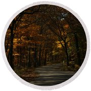 Brown County State Park Round Beach Towel