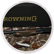Browning Bps Shotgun  Round Beach Towel