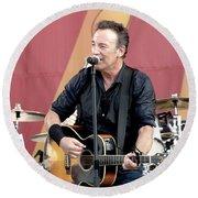 Bruce Springsteen 12 Round Beach Towel
