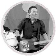 Bruce Springsteen 3 Round Beach Towel