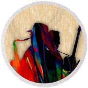 Bruce Springsteen And Clarence Clemons Round Beach Towel