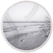 Brule Bay Lake Superior Round Beach Towel
