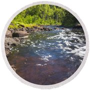 Brule River 2 Round Beach Towel