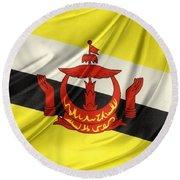 Brunei Flag Round Beach Towel