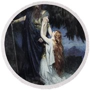 Brunhilde Knelt At His Feet, From The Round Beach Towel