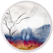 Brush Round Beach Towel