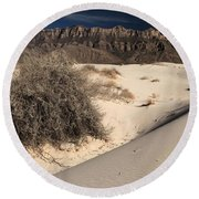 Brush In The Dunes Round Beach Towel