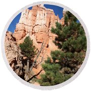 Bryce Canyon Fins Round Beach Towel