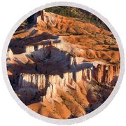 Bryce Canyon From The Air Round Beach Towel