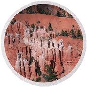 Bryce Canyon Hoodoos Round Beach Towel